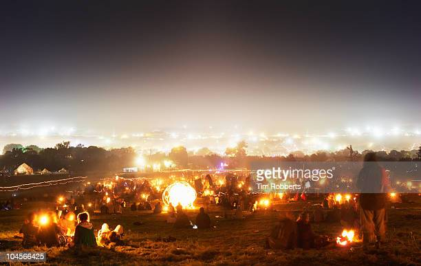 View from the Stone Circle at Glastonbury Festival
