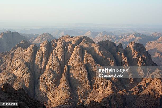 View from the summit of Mount Sinai at sunset