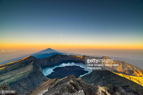 View from the summit of Mt Rinjani