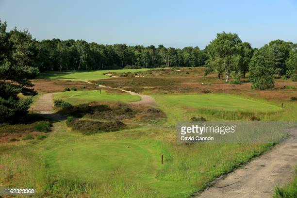 A view from the tee on the par 4 seventh hole on the Hotchkin Course at Woodhall Spa Golf Club on June 28 2019 in Woodhall Spa England