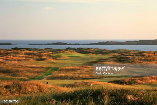 A view from the third green of the 418 yards par 4 15th hole 'Skerries' on the Dunluce Links at Royal Portrush Golf Club the venue for The Open...