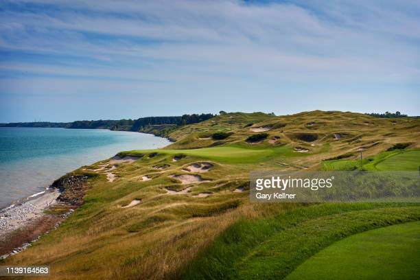 View from the third hole of Whistling Straits Golf Course on October 15, 2018 in Sheboygan, Wisconsin.