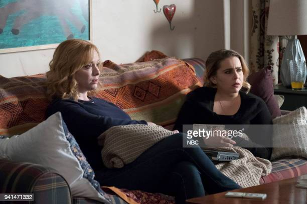 GIRLS 'A View From The Top' Episode 106 Pictured Christina Hendricks as Beth Boland Mae Whitman as Annie Marks