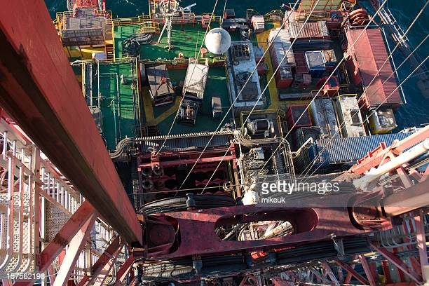 view from the top of an oil rig