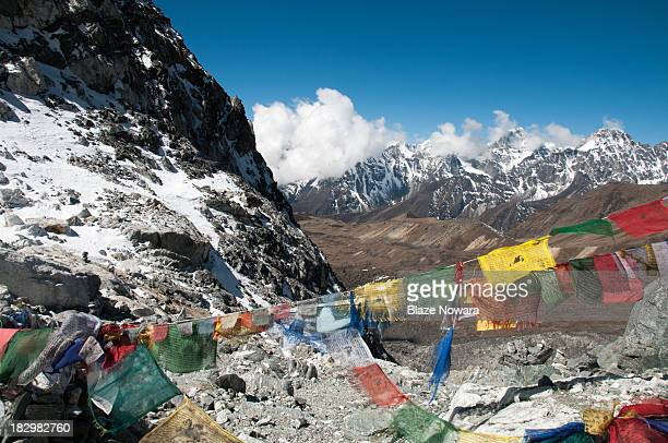 CONTENT] View from the top of Cho La Pass enroute to Everest Base Camp in Nepal