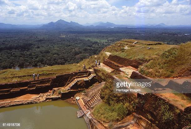 View from the Top of the Rock Fortress Sigiriya Sri Lanka 20th century Sigiriya is an ancient rock fortress of historic and archaeological...
