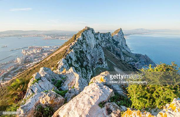 view from the top of the rock of gibraltar - rock of gibraltar stock photos and pictures