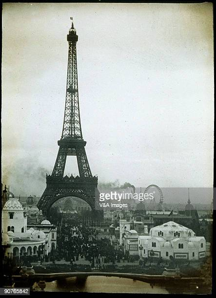 A view from the Trocadero of the Eiffel Tower during the Exposition Universelle of 1900 The exposition was a world's fair held in Paris from 15th...