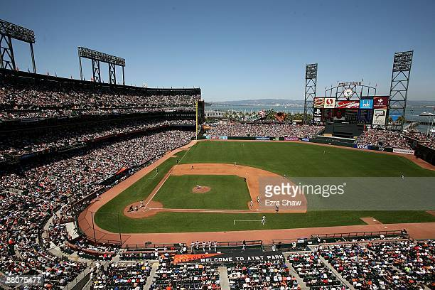 View from the upper decks of AT&T Park during the New York Mets game against the San Francisco Giants on May 16, 2009 in San Francisco, California.