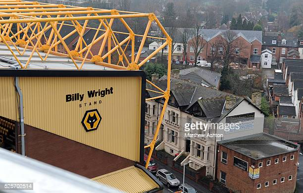A view from the upper tier of the new Stan Cullis stand as work continues on the Stan Cullis Stand reconstruction at Molineux Stadium the home of...