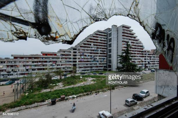 A view from the Vele building in the Scampia area in the suburb of Naples The northern Neapolitan suburb of Scampia is notorious for its drug wars...