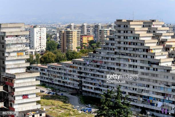 SCAMPIA NAPLES CAMPANIA ITALY A view from the Vele building in the Scampia area in the suburb of Naples The northern Neapolitan suburb of Scampia is...