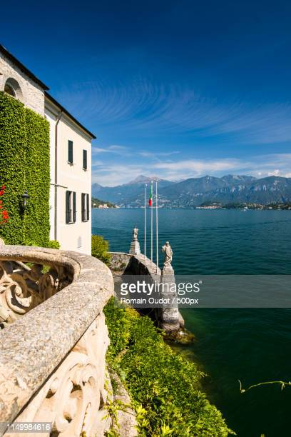 view from the villa del balbianello - como italy stock pictures, royalty-free photos & images