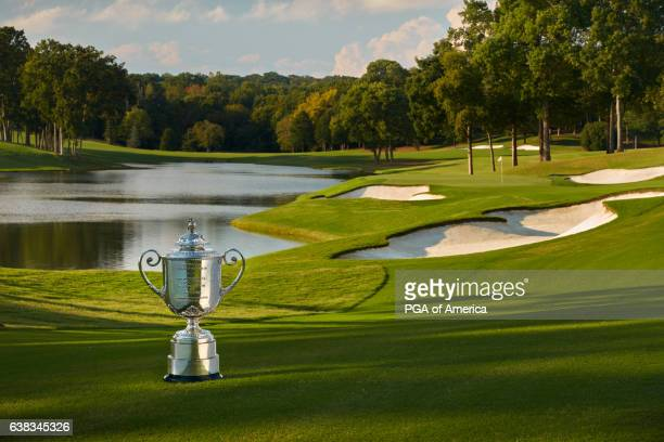 View from the Wanamaker Trophy from the 14th hole at Quail Hollow Club on September 30, 2016 in Charlotte, North Carolina.