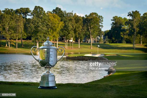 View from the Wanamaker Trophy from the 17th hole at Quail Hollow Club on September 30, 2016 in Charlotte, North Carolina.