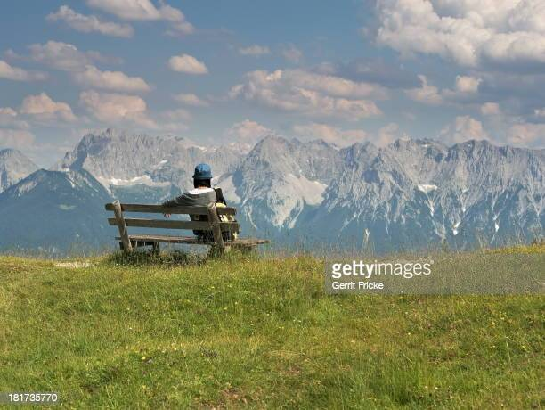 View from the Wank , a mountain located in southern Germany near Garmisch Partenkirchen.