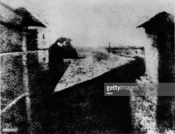View from the Window at Gras 1st photo taken by Nicephore Niepce in 1827