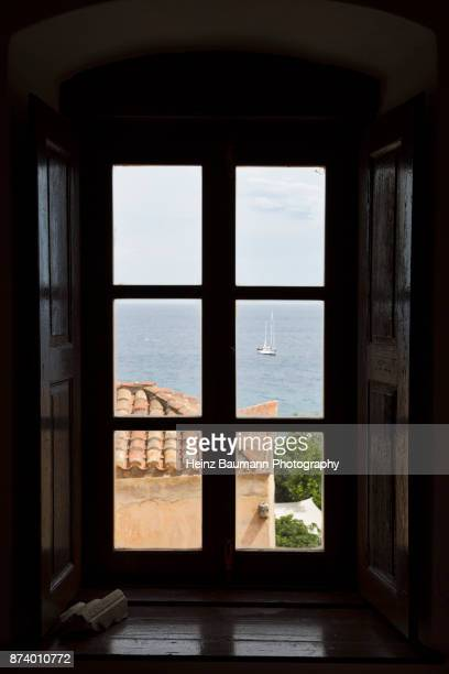 View from the window of an old house in Monemvasia, Peloponnese, Greece