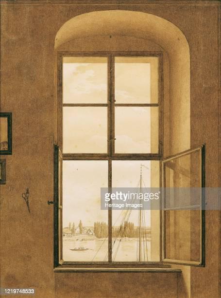 View from the window of the . Artist's studio, right window, 1805-1806. Found in the Collection of Österreichische Galerie Belvedere, Vienna. Artist...