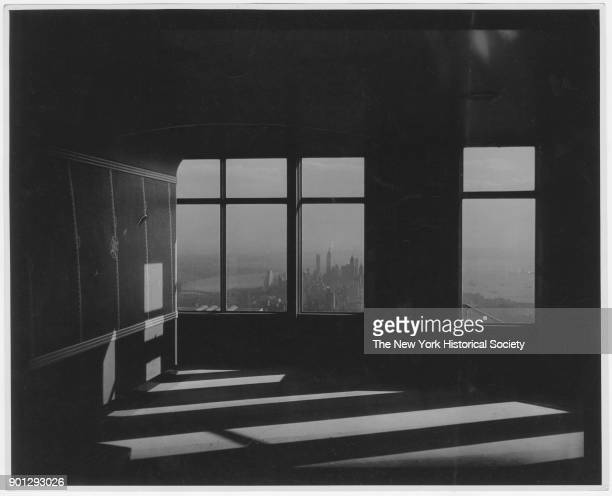 View from the windows of an incomplete office Empire State Building New York New York 1929