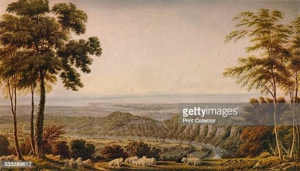 'View from the Wyndd Cliff near Chepstow Morning' from 'A Catalogue of the Pictures and Drawings in the collection of Frederick John Nettleford...