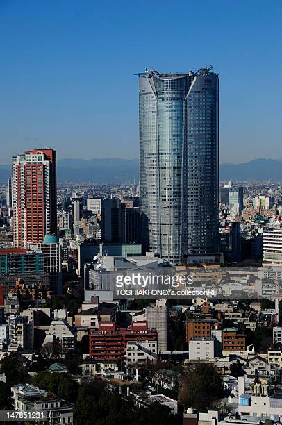 view from tokyo tower, minato ward , tokyo prefecture, honshu, japan - 六本木ヒルズ ストックフォトと画像