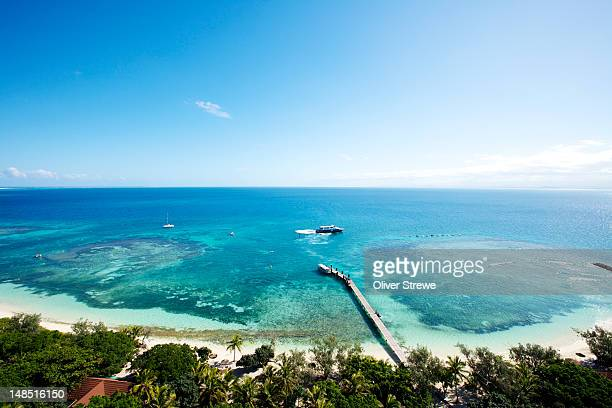 view from top of amedee island lighthouse. - new caledonia stock photos and pictures