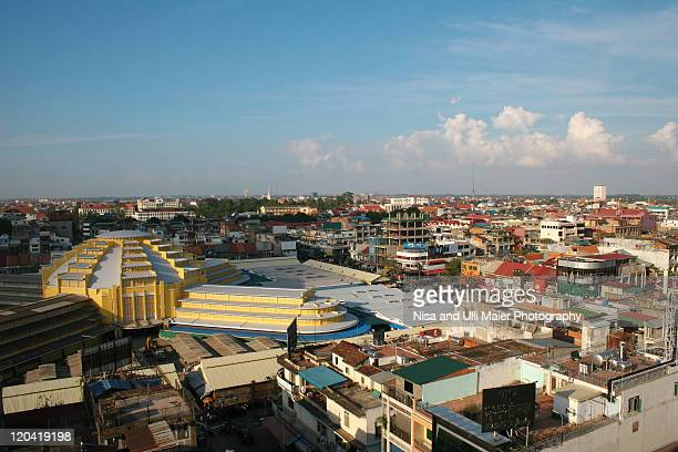 View from top of Phnom Penh, Cambodia.
