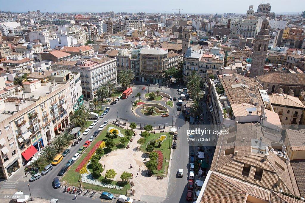 View From Tower El Miguelet Plaza De La Reina Valencia Mediterranean