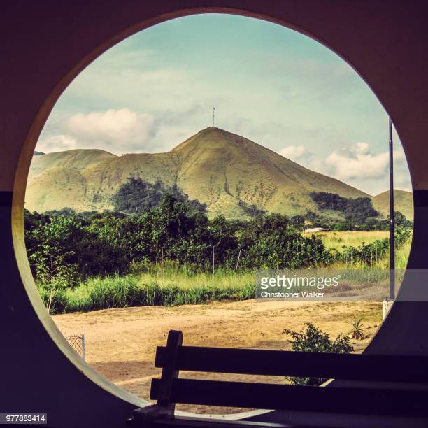 view from train station window - gabon stock pictures, royalty-free photos & images