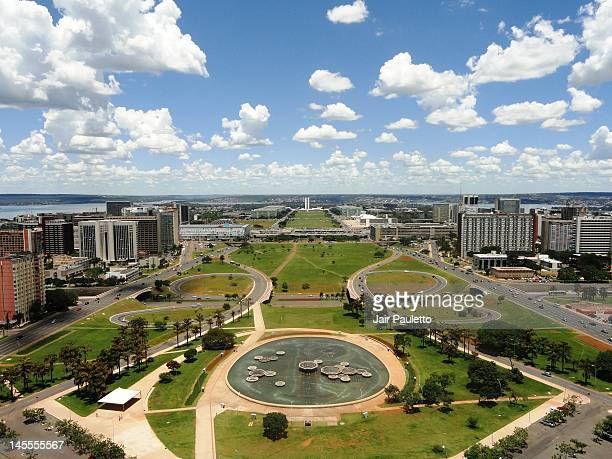 view from tv tower - distrito federal brasilia stock pictures, royalty-free photos & images