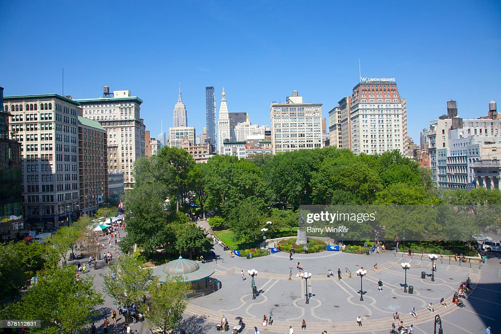 View from up high of union square park nyc stock photo getty images view from up high of union square park nyc stock photo sciox Image collections