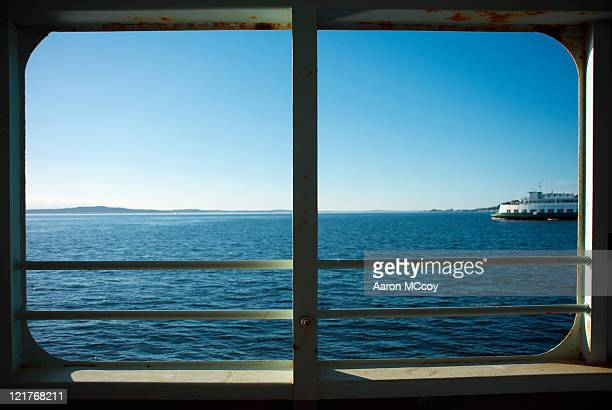 View From Vashon-Fauntleroy Ferry Crossing the Puget Sound, USA