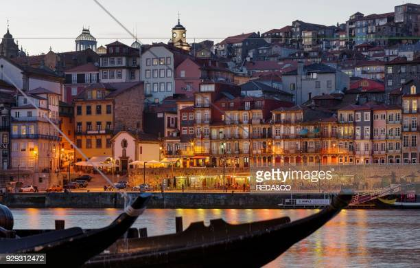 View from Vila Nova de Gaia towards Porto with the old town City Porto at Rio Douro in the north of Portugal The old town is listed as UNESCO world...