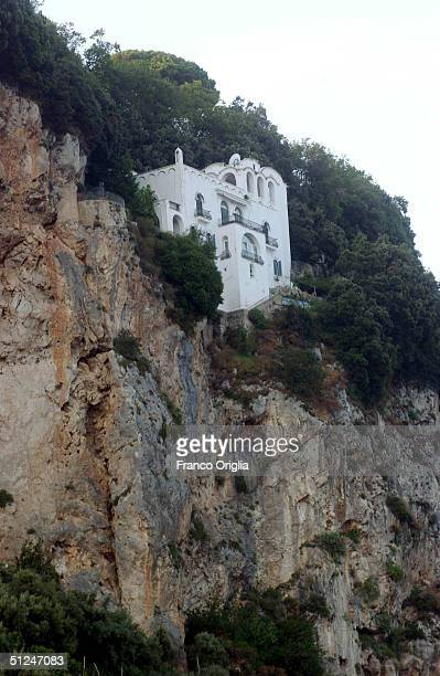 A view from 'Villa la Rondinaia' on the Amalfi's coast the Italian residence of the American writer Gore Vidal is seen August 7 2004 in Ravello on...