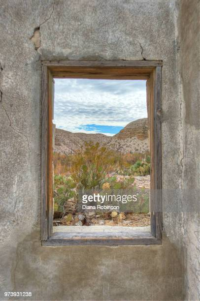 view from window on rio grande river, big bend national park, texas, usa - big bend national park stock pictures, royalty-free photos & images