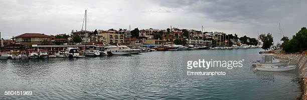 "view from""dalyankoy"" bay, cesme - emreturanphoto stock pictures, royalty-free photos & images"