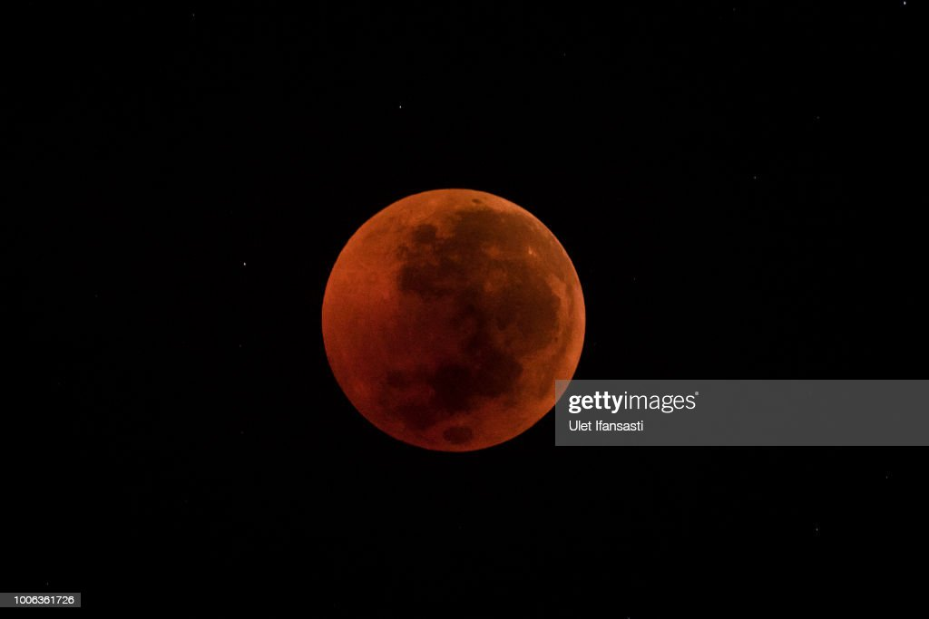 Total Lunar Eclipse Over Indonesia : News Photo