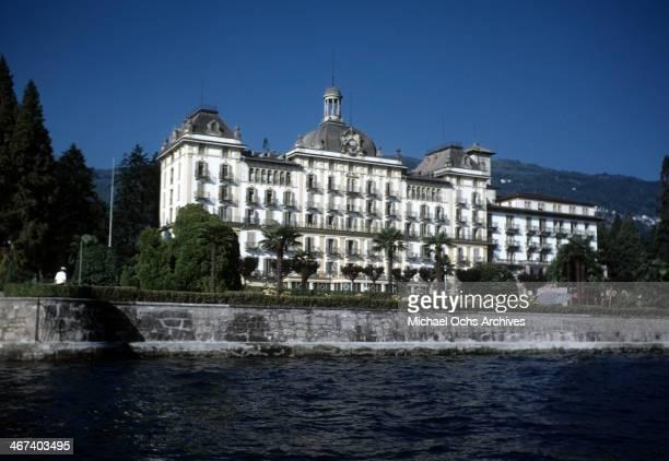 View Grand Hotel on Lake Maggiore in Stresa, Italy.