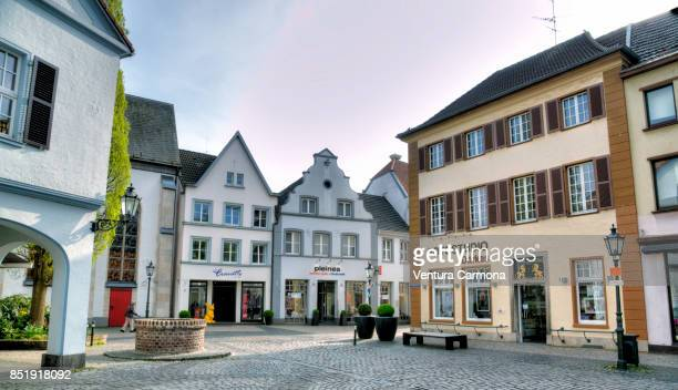 view in a street in the old town of kempen, germany - ドイツ ストックフォトと画像