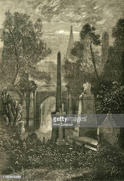 View in Highgate Cemetery' circa 1876 Burial ground in north London designated a Grade II nature reserve opened in 1839 with initial design by...