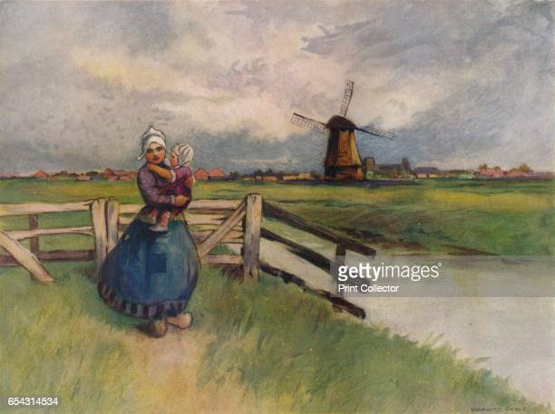 View in Holland 1907 After Warwick Goble From The British Printer Vol XX [Raithby Lawrence Co Ltd London and Leicester 1907] Artist Flame Engraving Co