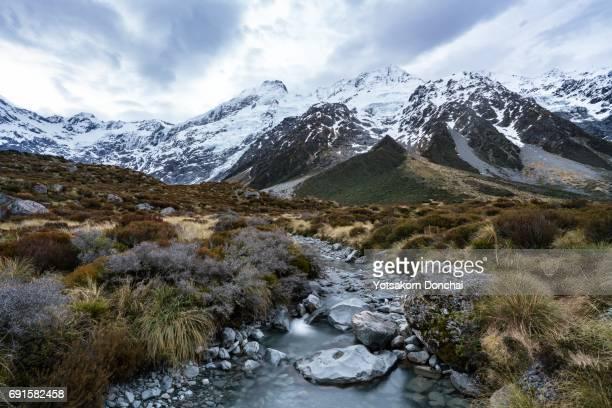 View in Hooker Valley, Mt Cook, New Zealand