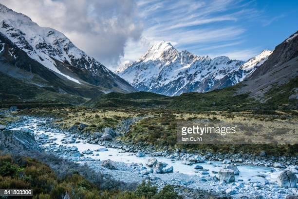 View in Hooker Valley, Mt Cook, New Zealand