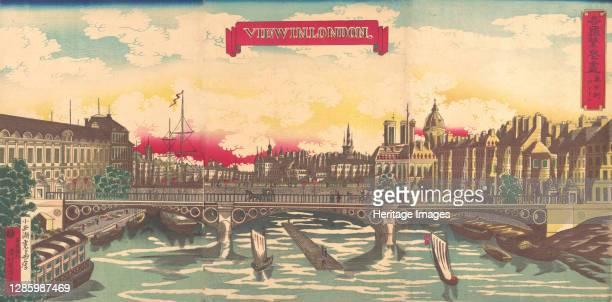 View in London, the Prosperity of Countries: London, England, September 1872. Artist Utagawa Yoshimori.