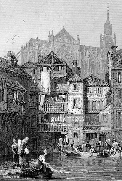 View in Metz northern France 19th century
