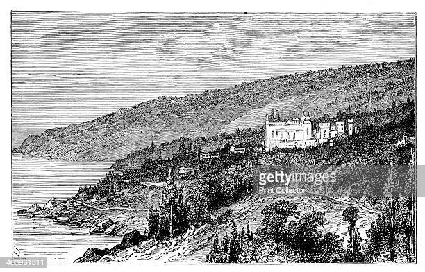 the Palace Woronzow Alupka Ukraine c1888 The Vorontsovsky Palace at the foot of the Crimean Mountains Illustration from The Life Times of Queen...
