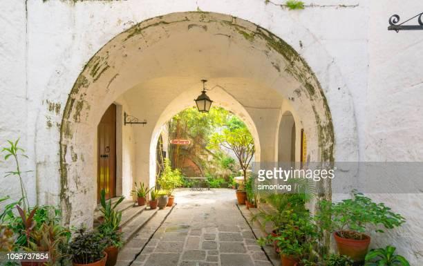 a view in the garden of casa manila - região da capital - fotografias e filmes do acervo