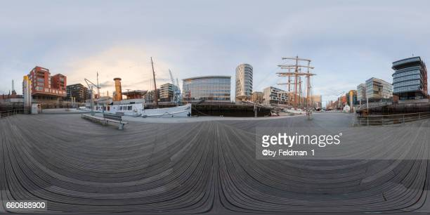 360° view in the harbor area of Hafencity ,Hamburg