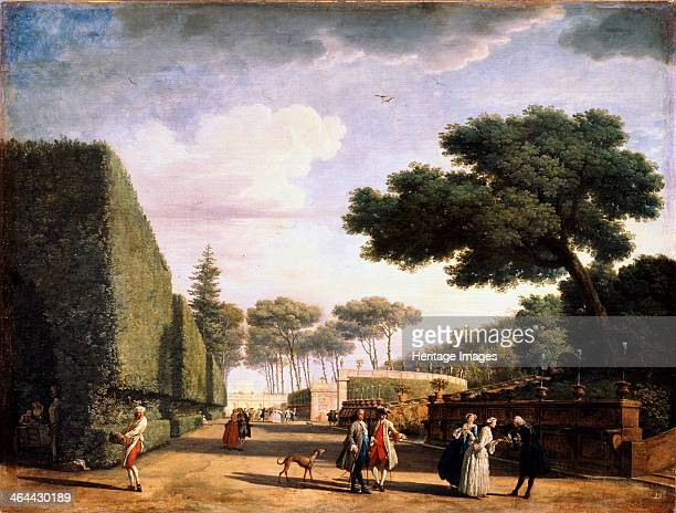 'View in the Park of the Villa Pamphili in Rome' 1749 Vernet Claude Joseph Found in the collection of the State A Pushkin Museum of Fine Arts Moscow